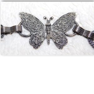 Accessories - Butterfly Chain Belt-Silver-tone